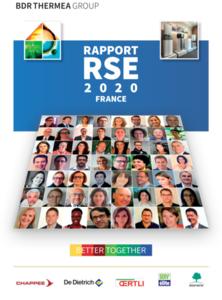 couverture rapport RSE 2020 BDR Thermea France