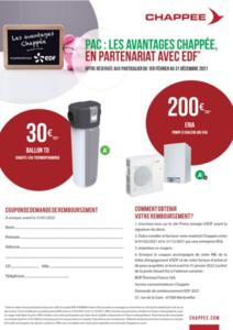 Exemple de coupon pour offre prime énergie Chappée et EDF