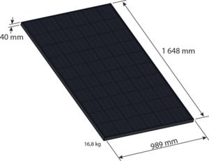 dimension d'un panneau photovoltaïque