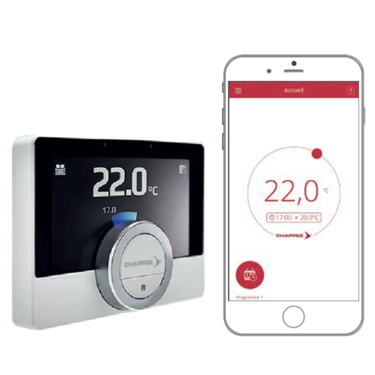 Thermostat connecté eMo Life avec application mobile android et ios
